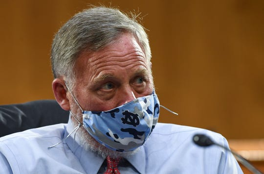 Sen. Richard Burr, R-N.C., listens to testimony before the Senate Committee for Health, Education, Labor, and Pensions hearing, Tuesday, May 12, 2020 on Capitol Hill in Washington.