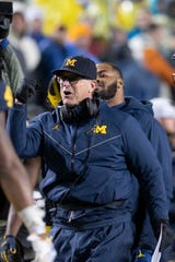 Seven of 13 verbal commitments in Michigan head coach Jim Harbaugh's 2021 recruiting class so far hail from the Midwest.