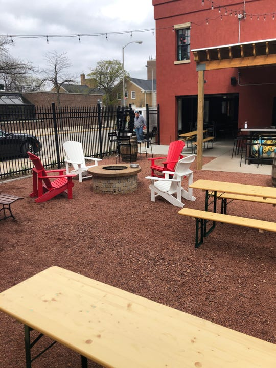 18 Hands Ale Haus has spaced out tables in its outdoor biergarten by 10 to 12 feet, as well as added chairs to promote social distancing when reopening, owner Sam Meyer said.