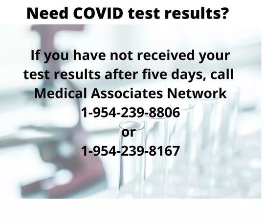 Covid-19 test contact numbers