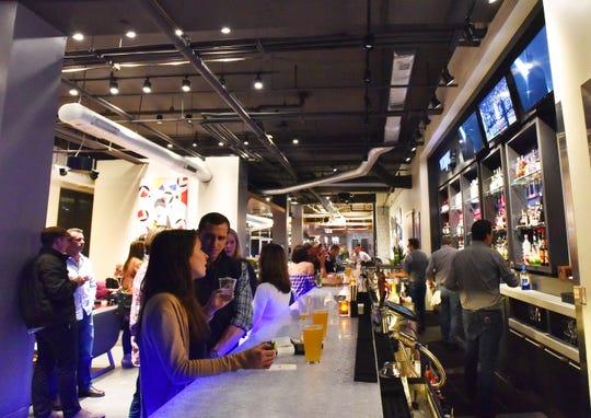 The bar at the WXYZ Lounge
