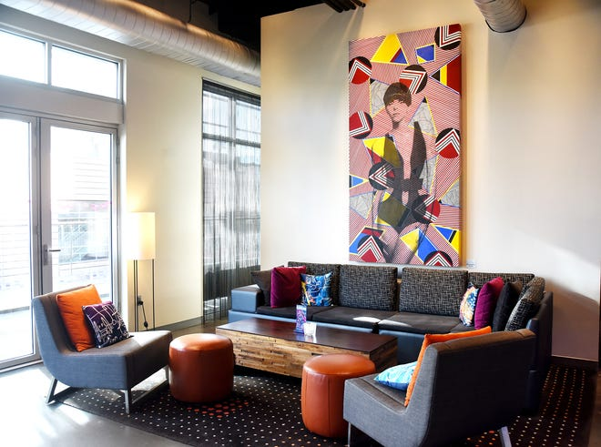 The WXYZ Bar at the Aloft Hotel in downtown Greenville.