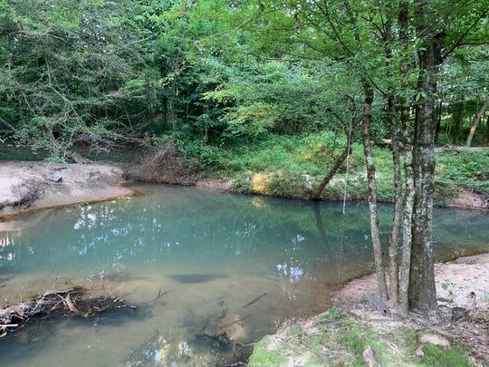 Deep pools for fishing or swimming make time on a creek enjoyable.