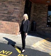 """Marketing and Special Events Coordinator Cindy Dodson checked in at the Farragut Goodwill on May 11. She shares her personal message, """"Be kind, even if others aren't,"""" with all employees."""