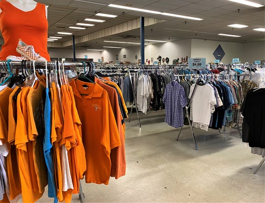 """The Farragut Goodwill displayed plenty of Volunteer orange on May 11. Prior to reopening on May 6, all stores were thoroughly sanitized. Any donations coming in are """"quarantined"""" for three days before being put out for sale."""