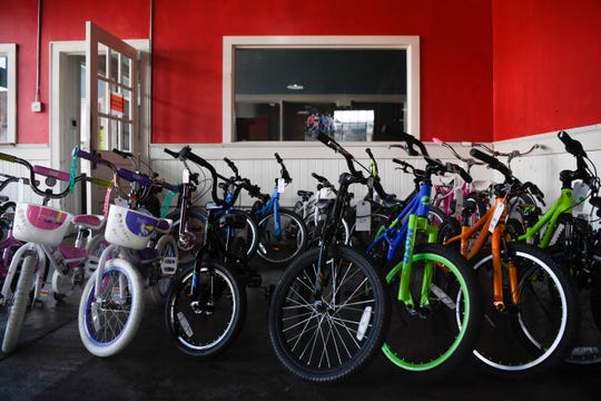 A large inventory of kids bikes is seen at DreamBikes in Old City, Thursday, May 14, 2020. Bike shops across Knoxville have seen an increase in demand for bikes and bike repairs during the coronavirus pandemic.