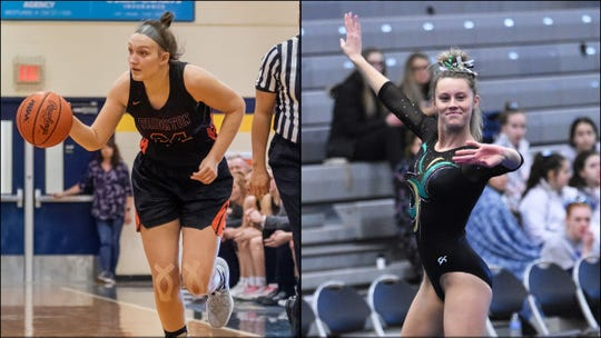 Brighton's Sophie Dziekan (left) vs. Howell's Alysa Weber