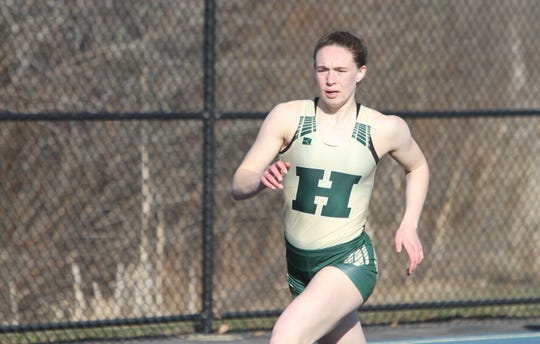 Emily Endebrock holds Howell's school record in the 400-meter run.