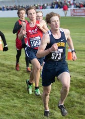 Levi Hinkle-DeGroot (1058) was a Division 4 state cross country qualifier for Livingston Christian in 2019.