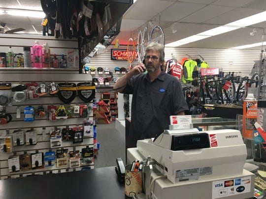 Steve Morateck, general manager of Allis Bike & Fitness in West Allis, said he doesn't plan on changing the safety precautions he put in place during the coronavirus pandemic anytime soon.
