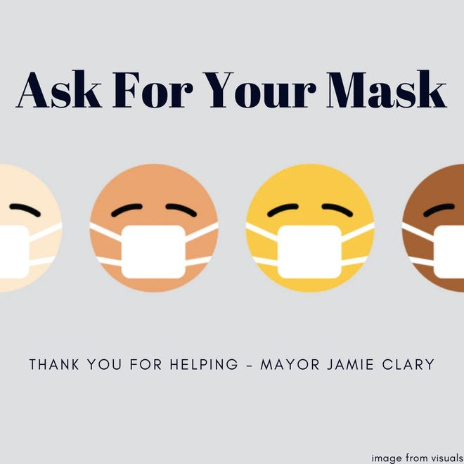 """Hendersonville Mayor Jamie Clary has launched """"Ask for Your Mask,""""an opportunity for residents to pick up free masks from the drive-through windows of local banks."""