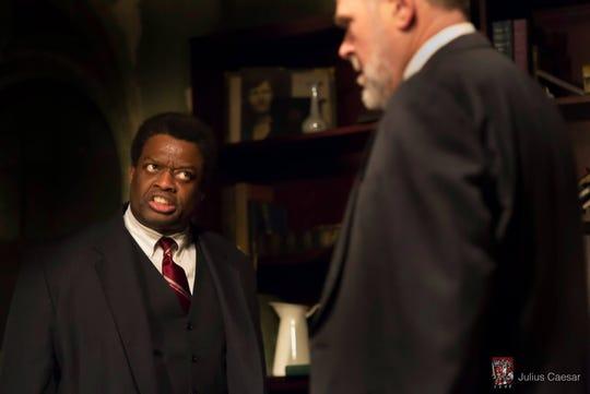 """""""Julius Caesar"""": Michael-David Gordong (Brutus) Terry Greiss, (Cassius)"""