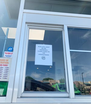 The Burger King on University Avenue was closed for cleaning Thursday, May 14, 2020, after a worker tested positive for COVID-19.