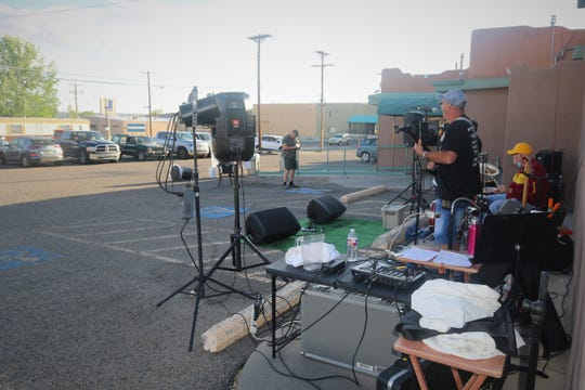 A mostly full parking lot at Clancy's Irish Cantina greeted the Jose Villareal Combo on May 13, 2020, for the opening night of the Sunset Curbside Concert Series.