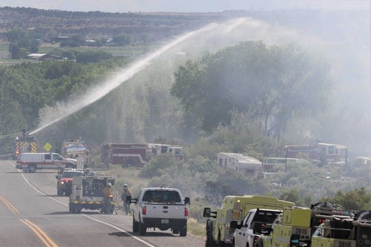 Multiple fire crews were dispatched to the Arroyo Fire on July 1, 2019, about five miles east of Bloomfield near County Road 4800 and U.S. Highway 64. The city of Farmington and San Juan County issued fire restrictions this week following an announcement from the New Mexico State Forestry Division on May 13.