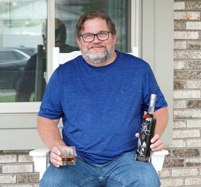 Scott Linsner has started a Brotherhood of Bourbon club from his Canton home. Bourbon lovers leave each other gifts of the liquor to enjoy during these stay-at-home days and nights.