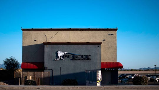 Xplicit Showclub, a strip club in Glendale, sits open on May 13, 2020.