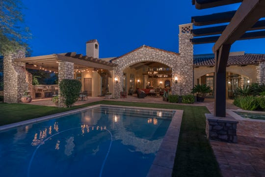 This Mediterranean-inspired estate in Scottsdale sold for $3.3 million. Timothy and Susan Stuart sold the estate. Nicholas and Karen Pyett were the buyers.