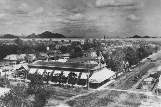 The Arizona Republican building, about 1908 or 1910, on the northeast corner of Second Street and Adams in downtown Phoenix. It was the newspaper's first permanent home.