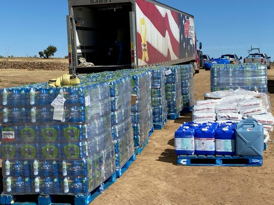 Native American ministers across the West and Plains gathered 30,000 pounds of water and 12,000 pounds of food to take to Navajo families in the far eastern reach of Navajo lands in early May.