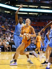 Phoenix Mercury guard Sophie Cunningham led WNBA rookies in free throw percentage in 2019.