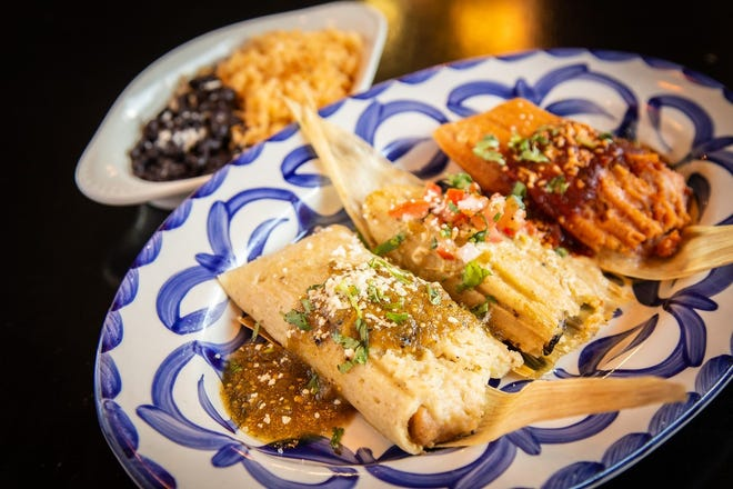 A trio of tamales at Barrio Queen. The restaurant has multiple locations around the valley including Tempe, Gilbert, Scottsdale and Phoenix.