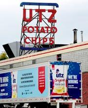 Utz Quality Food's Carlisle Street facility in Hanover Thursday, May 14, 2020. Bill Kalina photo