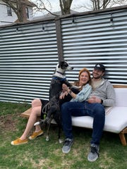 Jenna and Alex Sher live in Brooklyn with their pup, Juniper. They're expecting a baby Aug. 27, trying to be careful in a city at the epicenter of the novel coronavirus.