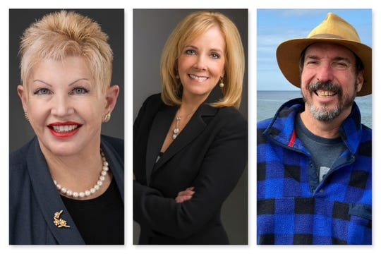 From left, Darla Fink, Neoma Jardon and Lee Wilhelm are running for Reno City Council Ward 5.