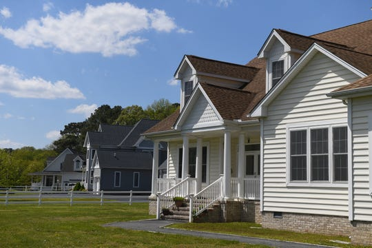 A property stands for sale in Berlin, Maryland, on May 13, 2020.