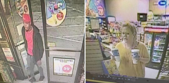 A man and a woman are suspects of a theft that was reported on May 8 at the Circle K located in the 3000 block of Bert Kouns.