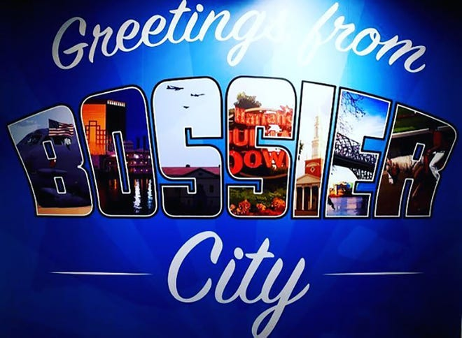 A mural of Bossier City