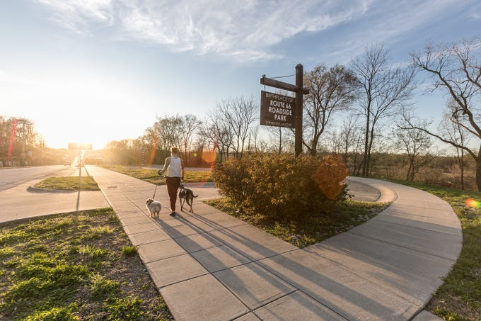 The Birthplace of Route 66 Roadside Park is located on College Street and pays tribute to the Mother Road.