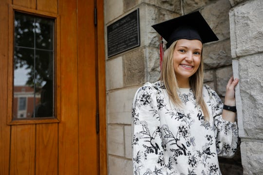 Mosha Clyma, who is graduating from Drury University, changed her major from music therapy to nursing after her mom was diagnosed with cancer.