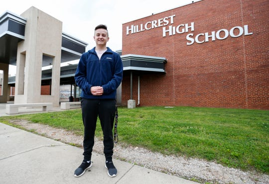 Cody Crim, a senior at Hillcrest High School, is joining the U.S. Navy this summer to become a nuclear engineer.