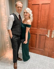 Brad and Megan Hoelscher have been together for six years, getting married in 2019.
