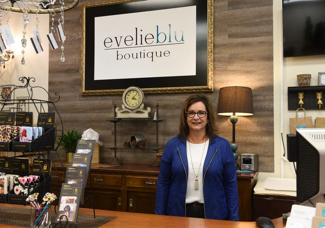 Kim LeBlanc of Evelie Blue Boutique poses for a picture Thursday, May 14, 2020, in St. Cloud. LeBlanc said she has moved to selling online for the first time during the COVID-19 outbreak.