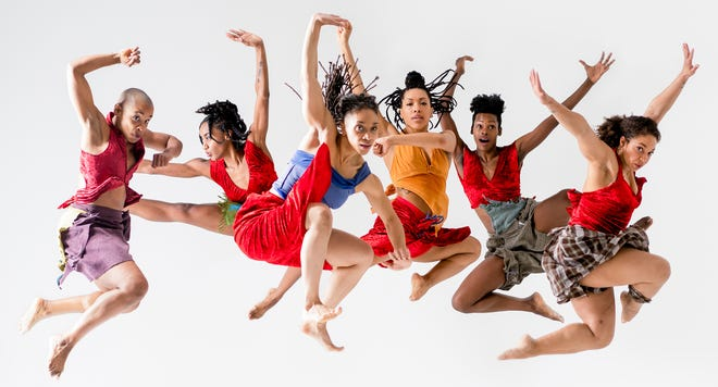 """Dancers in """"Women's Resistance."""" Florida State University dance professor Jawole Willa Jo Zollar has been recognized by the Ford Foundation as part of the series, """"The Future is Hers,"""" which recognizes women challenging how art is defined."""