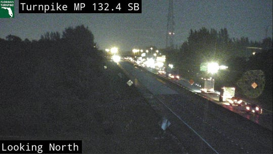 Fatal crash closes southbound lanes on Turnpike in Martin County May 14, 2020.