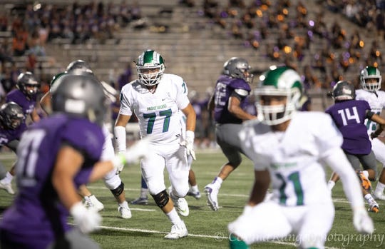 Montwood offensive lineman Isaac Gonzalez has earned a preferred walk-on spot at New Mexico State.
