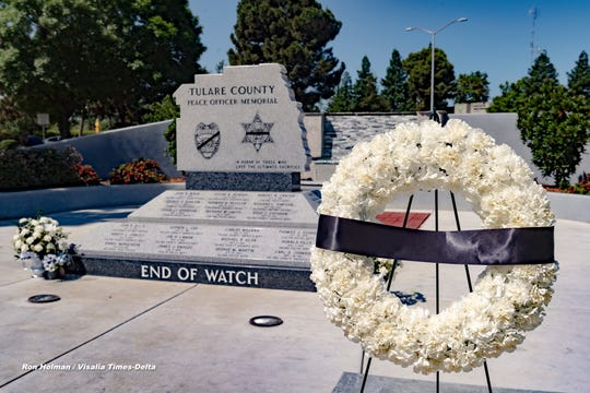 Peace Officers Memorial on Wednesday, May 13, 2020.