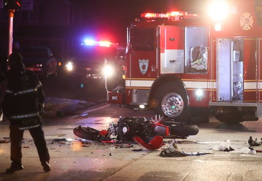 Delaware State Police investigate after a serious accident involving a motorcycle near Newport Wednesday evening. The accident occurred shortly before 8 p.m on West Newport Pike at Westmont Ave. Traffic is being diverted around the scene.