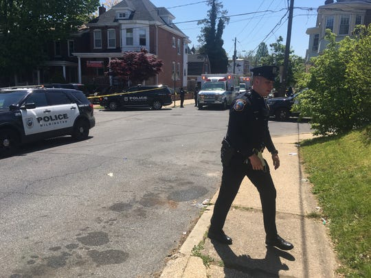 Wilmington Police are on scene at an apparent shooting on North Jefferson Street that occurred shortly after 11 a.m. Thursday.