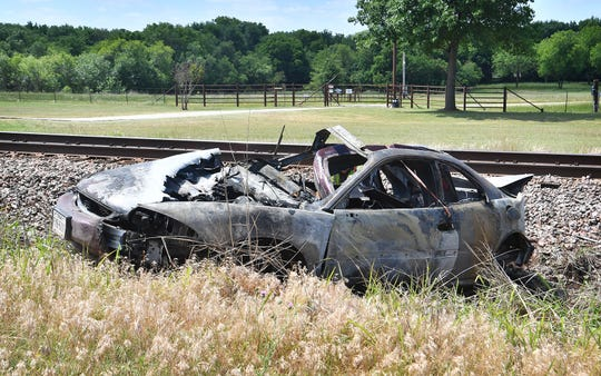 A car-train accident near Jolly claimed the life of a man Thursday morning when his Buick Riviera was struck by a northbound train at a private crossing for the Dillard Ranch.