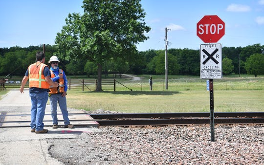 A man was killed Thursday morning when his car was struck by a northbound train at this private railroad crossing just south of Jolly.