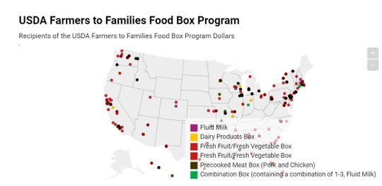 Eight Wisconsin ag  businesses were awarded 9 contracts totaling over $8.7 million for the Farmers to Families Food Box Program.