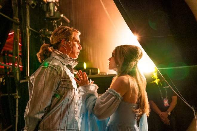 "Will Ferrell (as Lars Erickssong) and Rachel McAdams (as Sigrit Ericksdottir) prepare to rock in ""Eurovision Song Contest."""