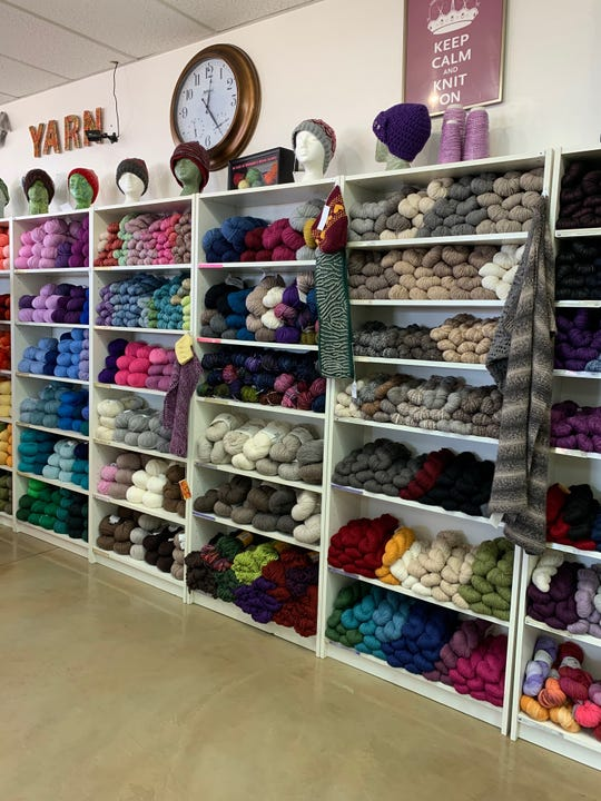 Tempe Yarn & Fiber has seen an uptick in business during the coronavirus pandemic. People have more time to knit, manager Amanda Neal says.