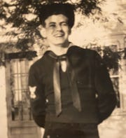 A young Albert Berard is pictured here shortly after joining the U.S. Navy. Berard, who died recently at age 95 due to complications from COVID-19, was among those who charged into heavy gunfire at Omaha Beach in Normandy, France, on D-Day in 1944.