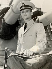 Joe Grable Jr. as a young officer in the Navy.